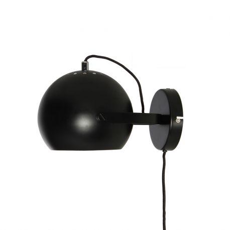Frandsen Ball væglampe m. håndtag - Mat sort