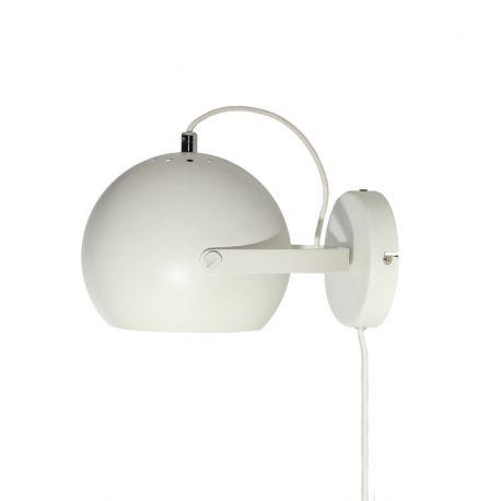 Frandsen Ball væglampe m. håndtag - Mat hvid