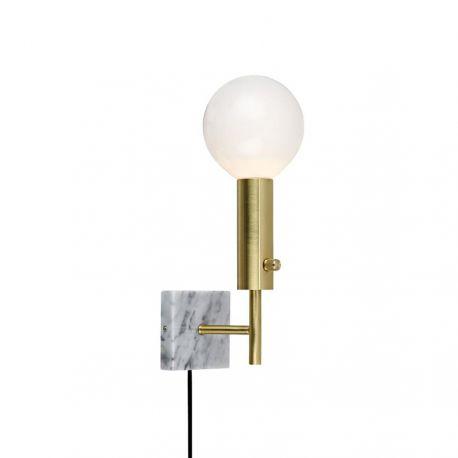 Marble Square væglampe - Messing - LampGustaf