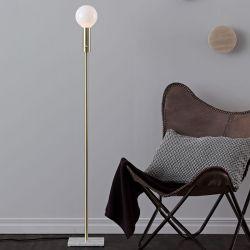 Marble Square gulvlampe - Messing - LampGustaf
