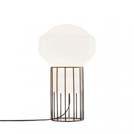 Aérostat 33 bordlampe - Hvid/sort stel - Fabbian