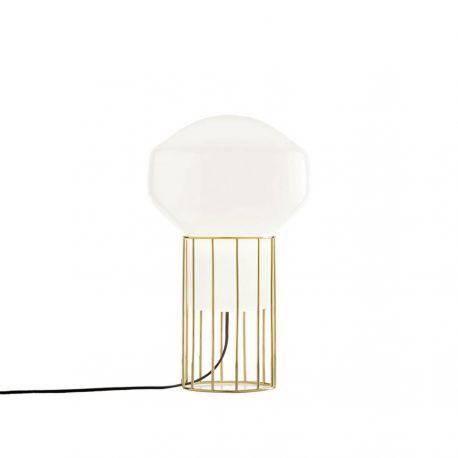 Aérostat 23 bordlampe - Hvid/messing stel - Fabbian