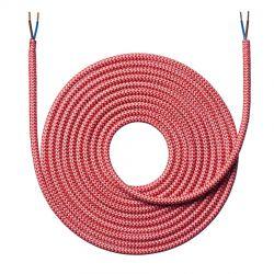 Stofledning - 4 meter - Zigzag rød - NielsenLight
