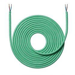 Stofledning - 4 meter - Zigzag grøn - NielsenLight