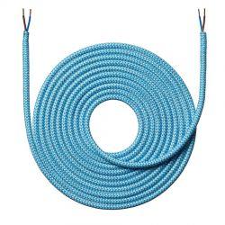 Stofledning - 4 meter - Zigzag lyseblå - NielsenLight