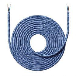 Stofledning - 4 meter - Zigzag mørkeblå - NielsenLight
