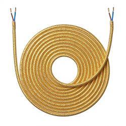 Stofledning - 4 meter - Shiny guld - NielsenLight