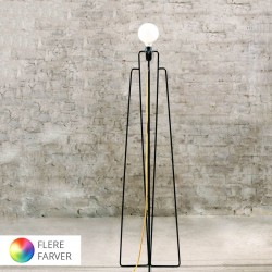 Grupa-Products Model M1 gulvlampe - Sort med Blå ledning