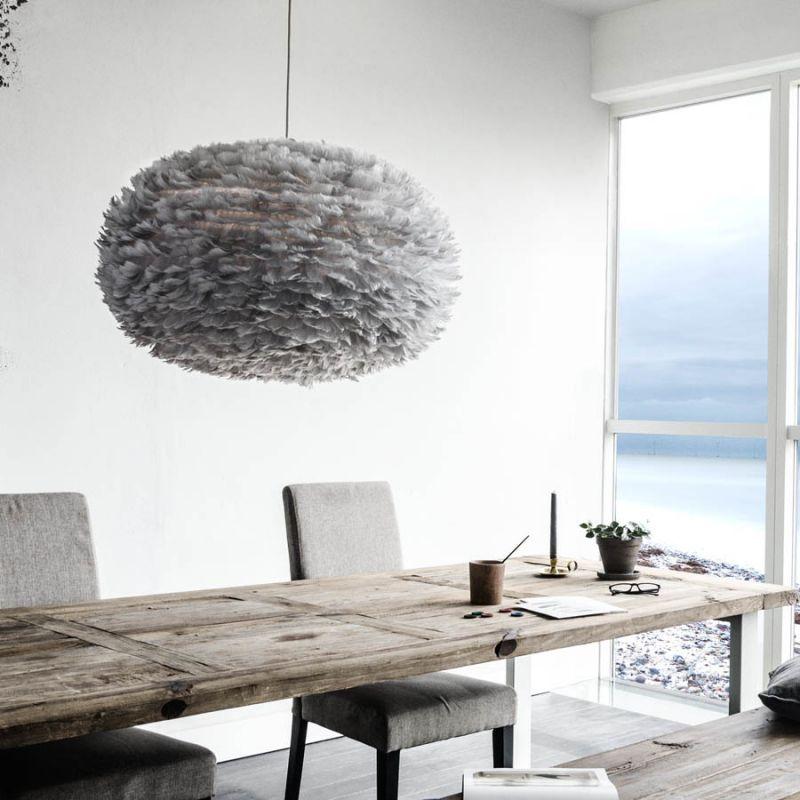 vita eos xl lightgray fjer pendel fjerlamper lys. Black Bedroom Furniture Sets. Home Design Ideas