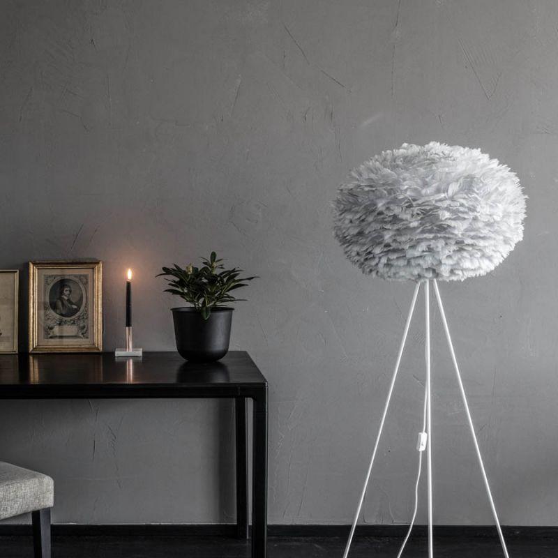 vita eos large lightgray fjer pendel fjerlamper lys. Black Bedroom Furniture Sets. Home Design Ideas