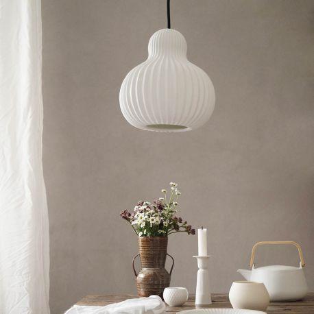 Frandsen Snowbell pendel - Hvid porcelæn