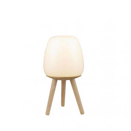 Opdateret Happy bordlampe - Opal/lyst træ - Flere varianter - Lys-Lamper.dk SR44