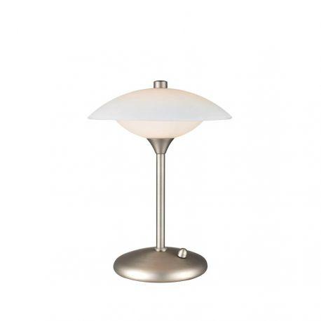 Baroni 22 bordlampe - Opal/børstet stål