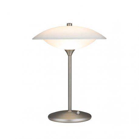 Baroni 30 bordlampe - Opal/børstet stål