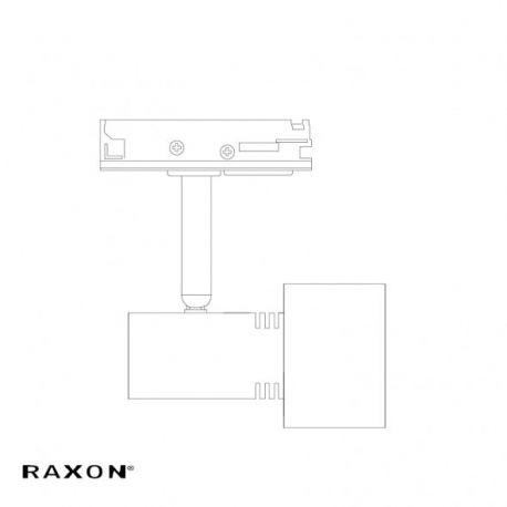 Raxon Studio 1F GU10 RX-PRO - Sort