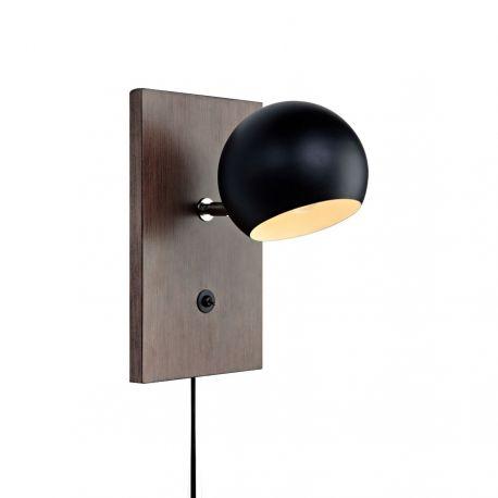 Markslöjd Fletcher væglampe - Valnød