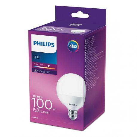 Philips LED Globe 16,5W (100W) Varm hvid E27