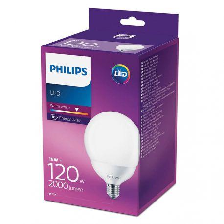 Philips LED Globe 18W (120W) Varm hvid E27
