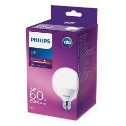Philips LED Globe 9,5W (60W) Varm hvid E27