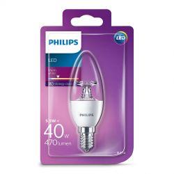 Philips LED Kerte Klar 5,5W (40W) Varm hvid E14
