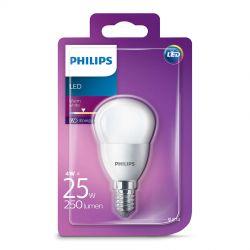 Philips LED Krone Mat 4W (25W) Varm hvid E14