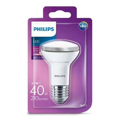 Philips LED Reflektor 2,7W (40W) Varm hvid E27
