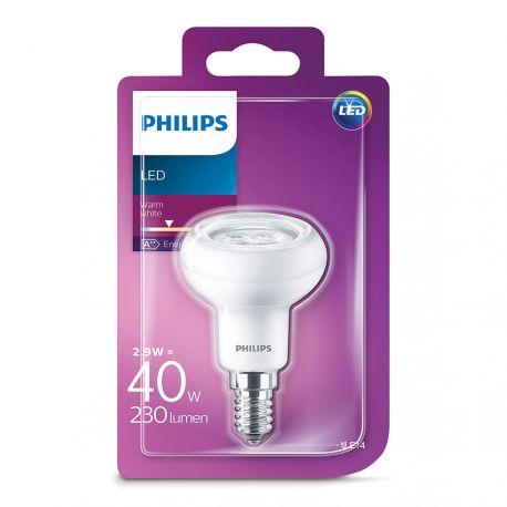 Philips LED Reflektor 2,9W (40W) Varm hvid E14