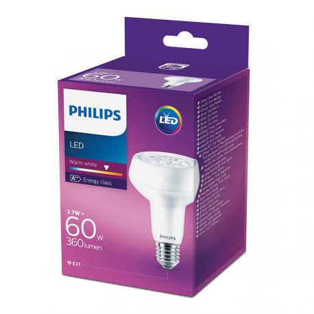 Philips LED Reflektor 3,7W (60W) Varm hvid E27