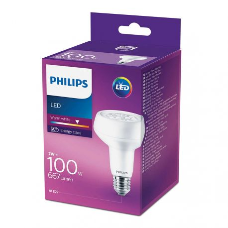 Philips LED Reflektor 7W (100W) Varm hvid E27