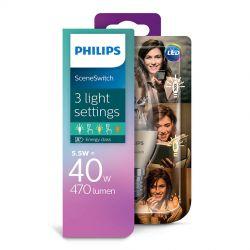 Philips LED SceneSwitch Kerte 5,5W (40W) 3 lysfarver E14