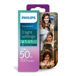 Philips LED SceneSwitch Spot 4,5W (50W) 3 lysfarver GU10