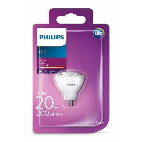 Philips LED Spot 3,5W (20W) Varm hvid 12 Volt G4