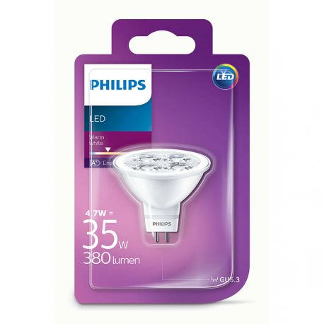 Philips LED Spot 4,7W (35W) Varm hvid 12 Volt GU5,3