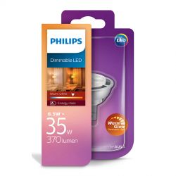 Philips LED Spot 6,3W (35W) Dæmpbar WarmGlow 12 Volt GU5,3
