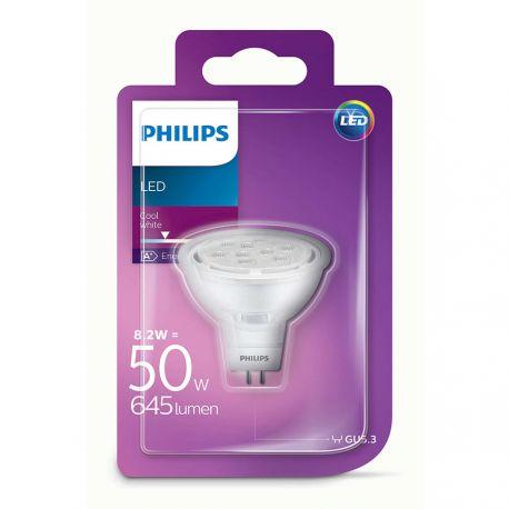 Philips LED Spot 8,2W (50W) Kold hvid 12 Volt GU5,3