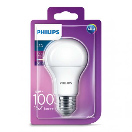 Philips LED Standard 13W (100W) Varm hvid E27