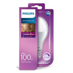 Philips LED Standard Mat 16W (100W) Dæmpbar Varm hvid E27