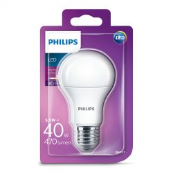 Philips LED Standard 5,5W (40W) Varm hvid E27