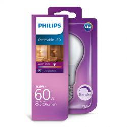 Philips LED Standard 8,5W (60W) Dæmpbar Varm hvid E27
