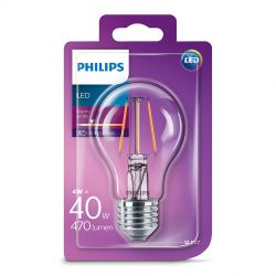 Philips LED Standard Filament 4W (40W) Varm hvid E27