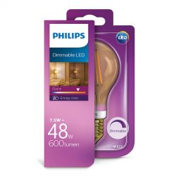 Philips LED Standard Filament Gold 7,5W (48W) Dæmpbar E27
