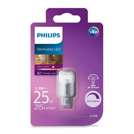 Philips LED Stift 2,3W (25W) Dæmpbar Varm hvid G9