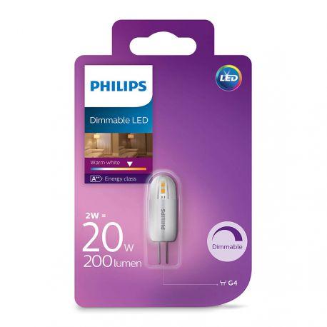 Philips LED Stift 2W (20W) Dæmpbar Varm hvid 12 Volt G4