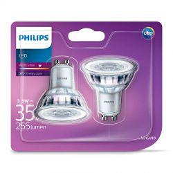 Philips LEDClassic Spot 3,5W (35W) Varm hvid GU10 - 2 Pak