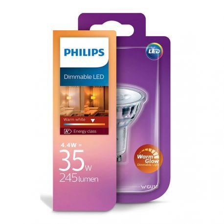 Philips LEDClassic Spot 4,4W (35W) Dæmpbar WarmGlow GU10
