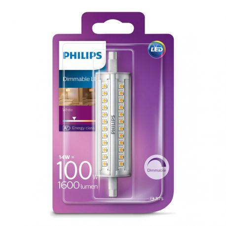 Philips LED rør 118mm 14W (100W) Dæmpbar Hvid R7s