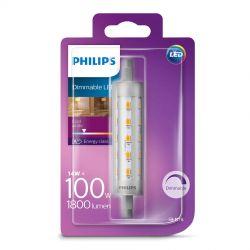 Philips LED rør 118mm 14W (100W) Dæmpbar Kold hvid R7s