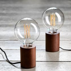 Frandsen Bristol bordlampe - Mørkt træ