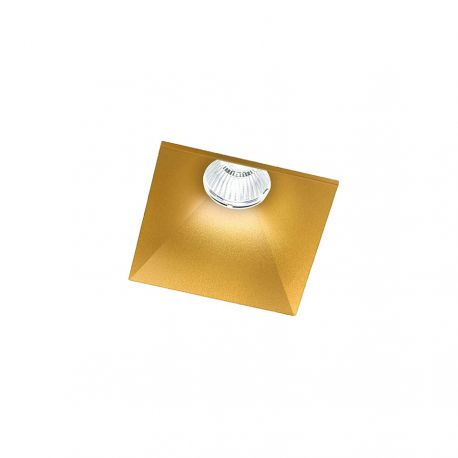 Light-Point Curve Square Trimless indbygningsspot - Guld