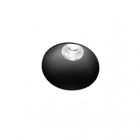 Light-Point Curve Round Trimless indbygningsspot - Sort
